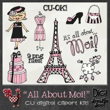All About Moi Fun French themed CU clipart
