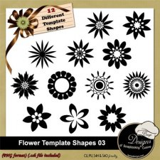 Flower Shapes TEMPLATES 03 by Boop Designs