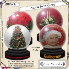 Snow Globe Action by Cida Merola