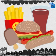 Fast Food Layered Template by Peek a Boo Designs