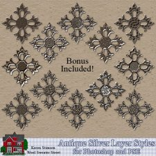 Antique Silver Layer Styles by Karen Stimson