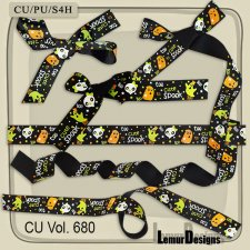 CU Vol 680 Ribbons Halloween by Lemur Designs