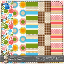 Overlay Pattern Paper Template 07 by Peek a Boo Designs
