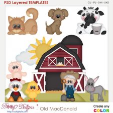 Old MacDonald Farm Layered Element Templates
