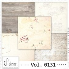 Vol. 0130 to 0132 Vintage Papers by Doudou Design