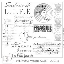 Everyday Word Arts Vol 11 by D's Design