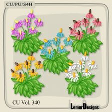 CU Vol 340 Flowers Pack 6 by Lemur Designs