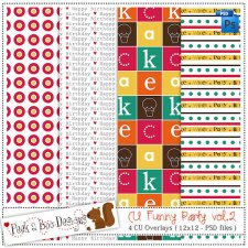 Funny Party vol 2 Pattern Layered Template by Peek a Boo Designs
