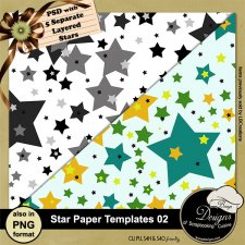 Star Paper TEMPLATE 02 by Boop Designs