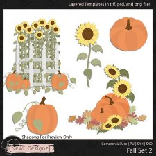 EXCLUSIVE Layered Fall Templates Set 2 by NewE Designz