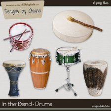 Band Music - Drums - EXCLUSIVE Designs by Ohana