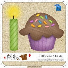 Cupcake & Candle Birthday Layered Template by Peek a Boo Designs