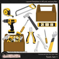 EXCLUSIVE Layered Tools Templates Set 1 by NewE Designz
