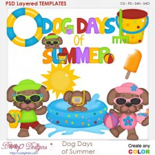 Dog Days of Summer Layered Element Templates