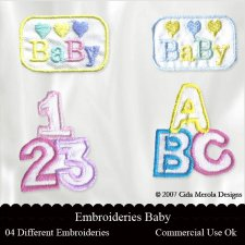 Embroideries Baby by Cida Merola