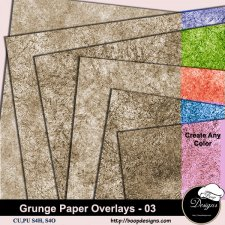 Grunge Paper Overlays 03 by Boop Designs