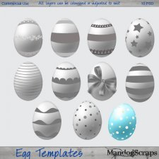 Easter Egg Templates by Mandog Scraps