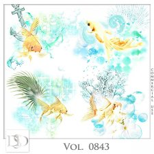 Vol. 0843 Sea/Summer Accents by D's Design