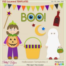 Halloween Layered TEMPLATES 4