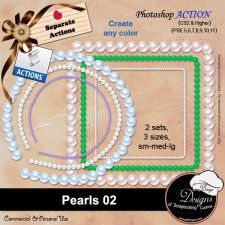 Pearls 02 ACTION by Boop Designs