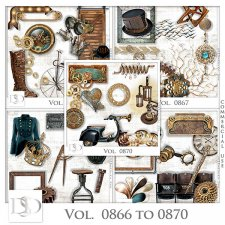 Vol. 0866 to 0870 Steampunk Mix by D's Design