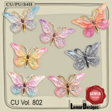 CU Vol 802 Butterfly by Lemur Designs