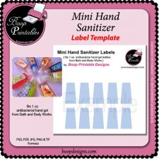 Hand Sanitizer Bottle Label TEMPLATES by Boop Printables