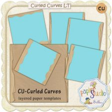 Curled Curves layered templates EXCLUSIVE by PapierStudio Silke