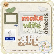 Action Make it White for Objects EXCLUSIVE by PapierStudio Silke