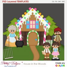 House in the Woods Layered Element Templates