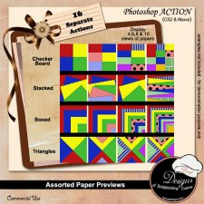 Assorted Paper Preview ACTION BUNDLE by Boop Designs