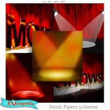 Scenic Papers 5 Cinema by Kastagnette