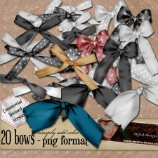 PNG BOW BUNDLE by Monica Larsen