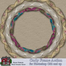 Curly Frame Action by Karen Stimson