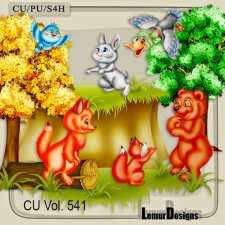 CU Vol 541 Forest Animals by Lemur Designs