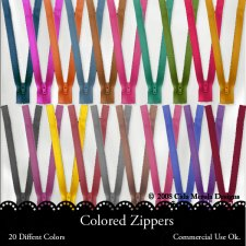 Colored Zippers by Cida Merola