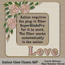 Glass Mosaic Actions SBP by Karen Stimson