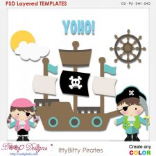 Itty Bitty Pirates Layered Element Templates