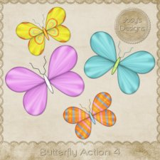 Butterfly Action 04 by Josy