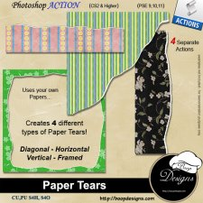 Paper Tears ACTION by Boop Designs