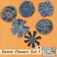 Denim Flowers 1