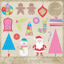 Merry And Bright Layered Vector Templates 1 by Josy