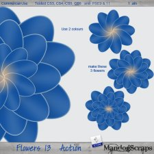 Flowers 13 Action by Mandog Scraps