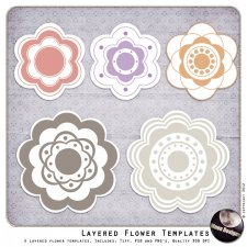 Layered Flower Templates by MoonDesigns