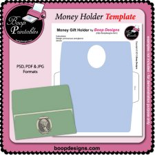 Money Holder TEMPLATE by Boop Printable Designs