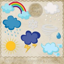 Whats The Weather Layered Vector Templates by Josy