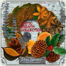 EXCLUSIVE Rustic Wreath Collection by Silver Splashes