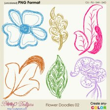 Flower Doodles 02
