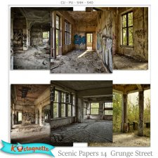 Scenic Papers 14 grunge street by Kastagnette