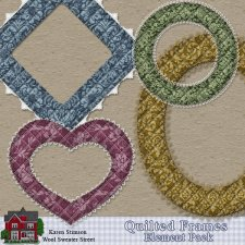Quilted Frames Element Pack by Karen Stimson